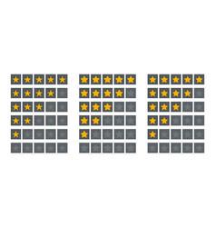 5 star rate set customer feedback rating stars vector image
