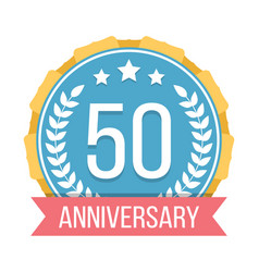 50 years anniversary emblem vector image