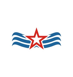 America star usa logo icon vector