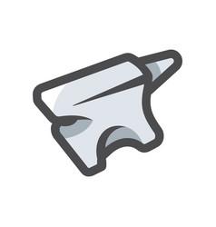 anvil metal stithy symbol cartoon vector image