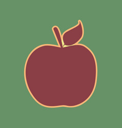 Apple sign cordovan icon and vector