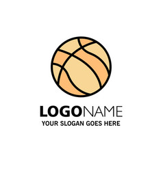 Ball basketball nba sport business logo template vector