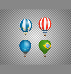 balloons isolated on transparent background vector image