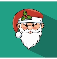 Beautiful face santa claus icon graphic vector