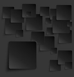 Black tiles abstract background vector image