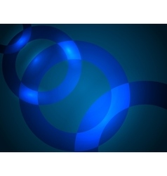 Blue abstract background with brightening glowing vector image
