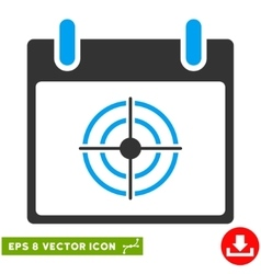 Bullseye Calendar Day Eps Icon vector