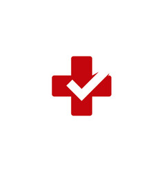 check medical logo icon design vector image