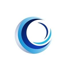 circle wave logo sphere symbol icon design vector image