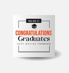 Congrats graduates simple banner vector