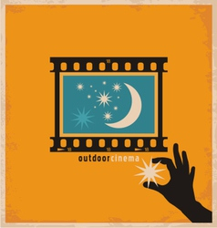 Creative design concept for outdoor cinema vector