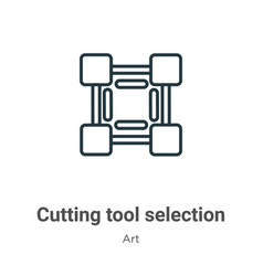 Cutting tool selection outline icon thin line vector
