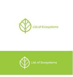 ecosystem logo leaf icon vector image