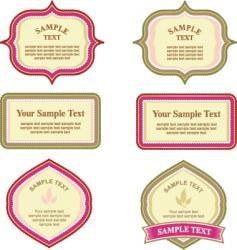 Elegant labels vector
