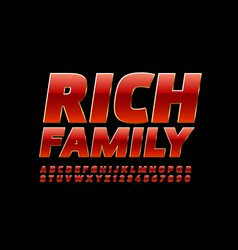 Elite logo rich family with bright font vector