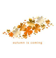 fall hot color natural decorative design vector image