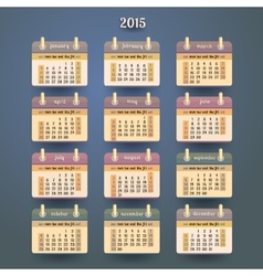 Flat calendar 2015 year design vector