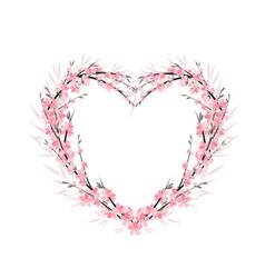 flower decoration of sakura vector image