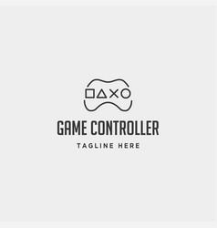 Game controller simple logo line template icon vector