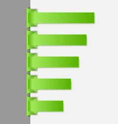 Green folded paper navigation menu backgrounds vector image