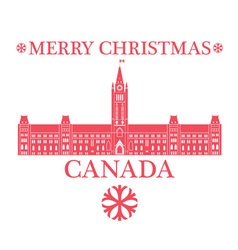 Greeting Card Canada vector image