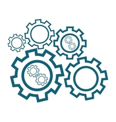Group cog wheels vector