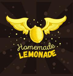 Homemade lemonade conceptual logo label print vector
