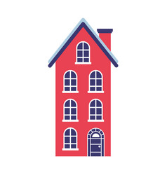 house real estate on white background vector image