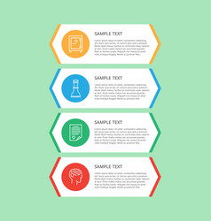 infographic items and text vector image