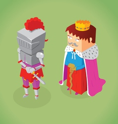 isometric king and knight vector image