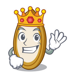 King fruit pumpkin seed isolated on mascot vector