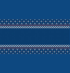 Knitwear template with empty place for text wide vector