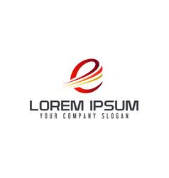 letter e logo tech design concept template vector image