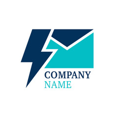 lightning mail logo vector image