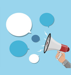 loudspeaker or megaphone and speech balloon vector image