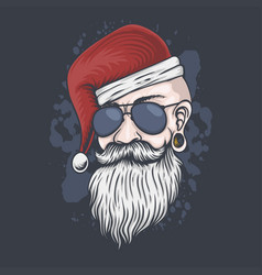 man head christmas vector image