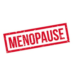 Menopause rubber stamp vector image