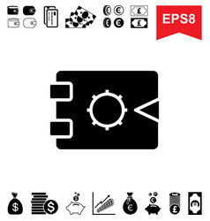 Money vault icon collection of financial vector
