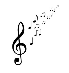 music notes musical design element isolated vector image