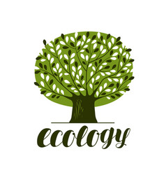 nature ecology forest logo or label abstract vector image