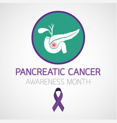 Pancreatic cancer awareness month icon design vector