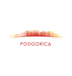 podgorica skyline silhouette design vector image