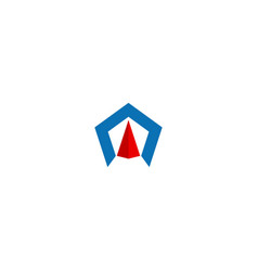 polygon shape arrow company logo vector image