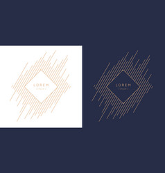 postcard for text geometric vector image