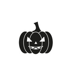 Pumpkin of icon helloween black the evil vector