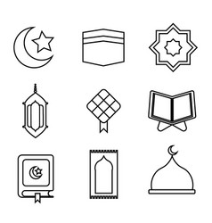 Ramadhan icon outline vector