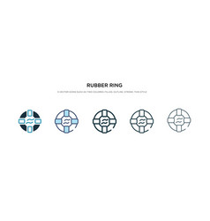 Rubber ring icon in different style two colored vector