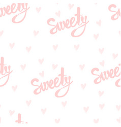 Seamless pattern with handwriting text vector