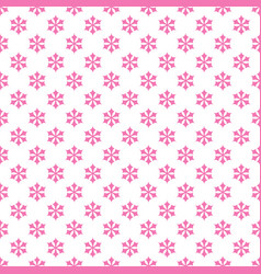 seamless retro stylized snow flake pattern vector image