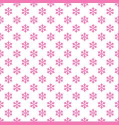 Seamless retro stylized snow flake pattern vector